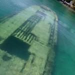 Sunken ship near Tobermory, Ontario